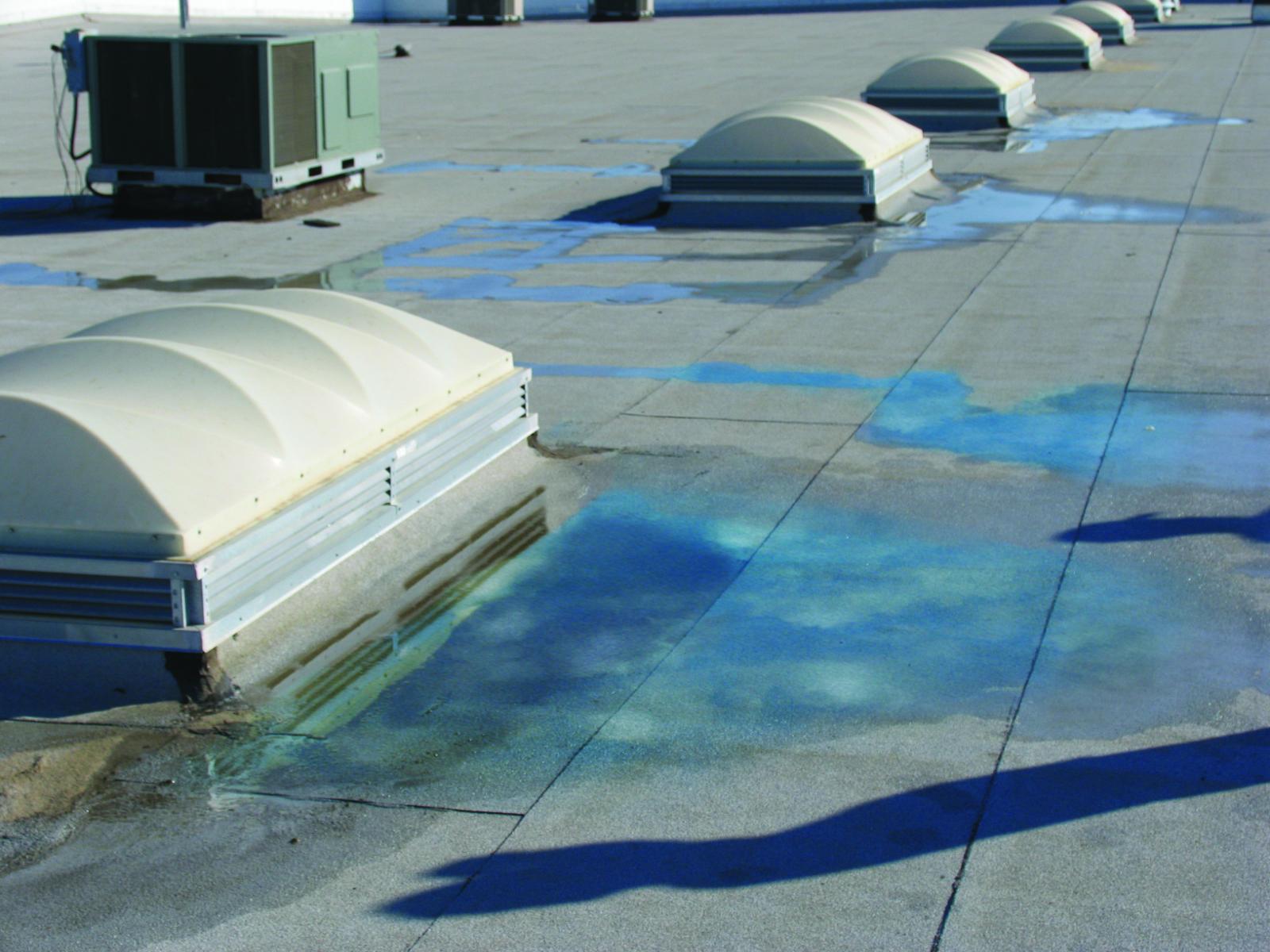 Preventing Ponding Water Around Skylights