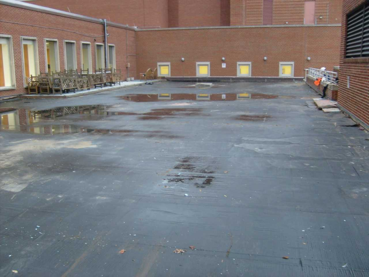 Long Term Effects Of Ponding Water On A Flat Roof Roofslope