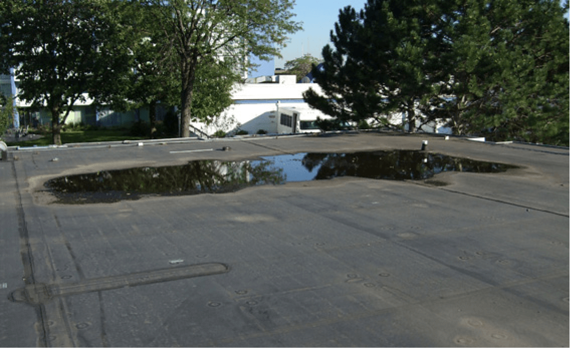 5 Common Causes for Flat Roof Ponding Areas