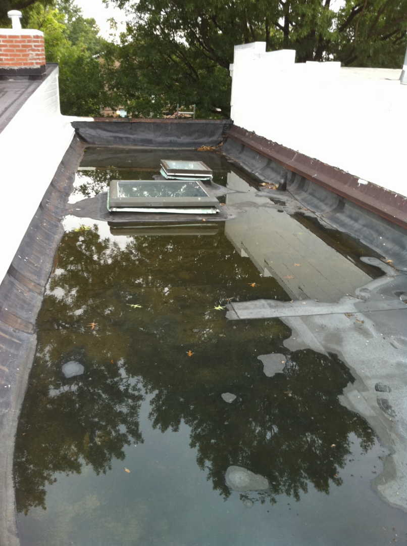 How to Deal with Ponding Water on a Roof Before Fixing the Problem